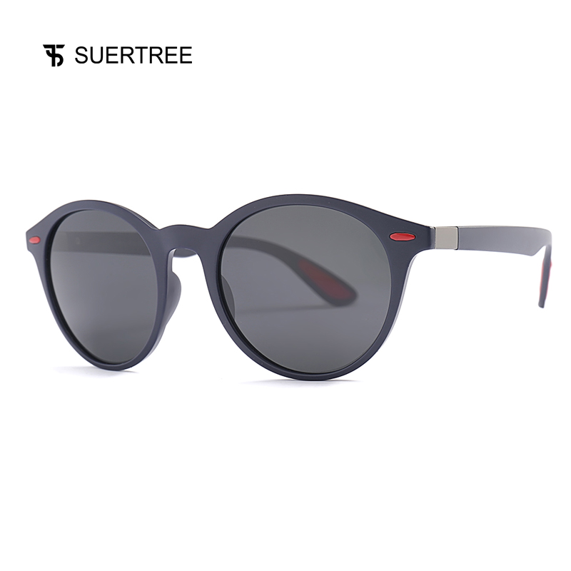 SUERTREE Fashion Polarized Pilot Sungalsses Trendy TR Ultralight Rivet Spring Hinge Shades Classic Women Men UV400 Eyewear P0049