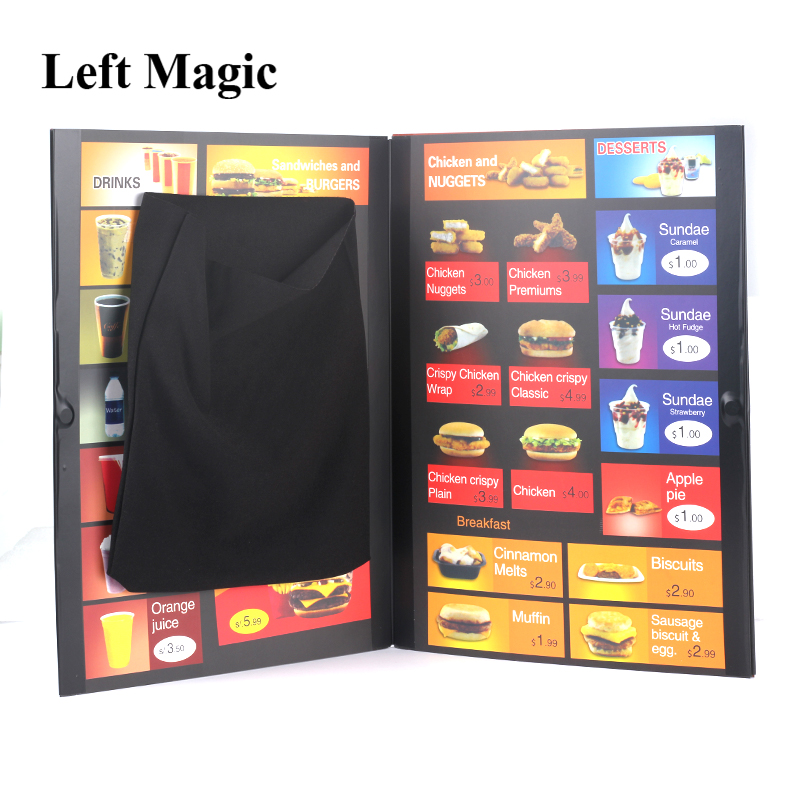 Food To Go Magic Tricks Super Hamburg Takeaway Street Close-Up Stage Magic Props Accessories Mentalism Gimmick G8199