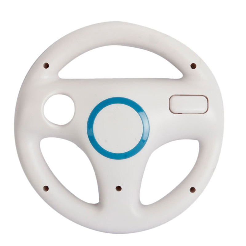 Hot White Plastic Steering Wheel For Wii Mario Kart Racing Games Remote Controller Console kart racing steering wheel for nintendo wii games remote controller console super mario kart game accessories black white pink
