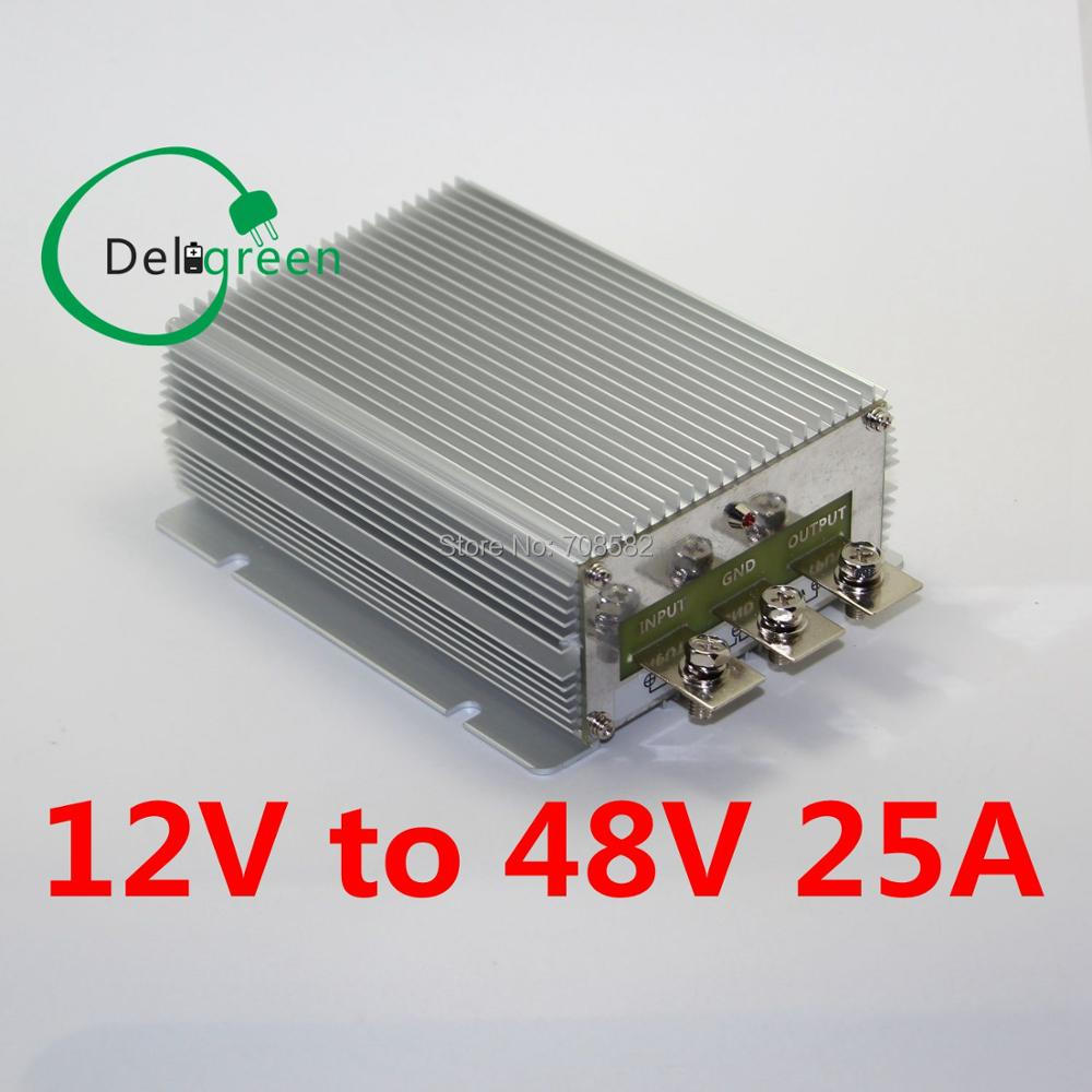 12V to 48V 25A 1200W DC DC Converter Regulator Car Step up boost module power supply free shipping dc 12v 9 v 18 v step up to dc 19v 20a 380w boost power converter regulator module