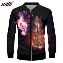 UJWI Men s Flame Guitar Zip Jacket 3D Printed Purple Musical Note New  Arrivals Zipper Coat Man Sports Clothing Direct Selling e55ff1401db6
