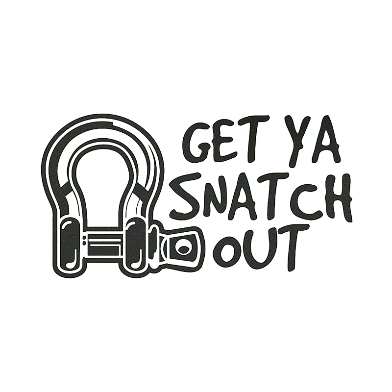 GET YA SNATCH OUT funny bow shackle tow 4wd 4x4 offroad diesel CAR STICKER шапка check ya head check ya head mp002xm0lzmg