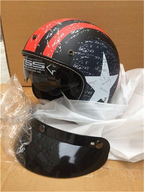 b6968370a86 Moto rcycle casco vespa vintage harley invierno medio casco con interior  visor jet retro capacete casque