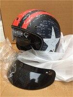motorcycle helmet vespa vintage harley winter half helmet with inner visor jet retro capacete casque moto helmet DOT mate star