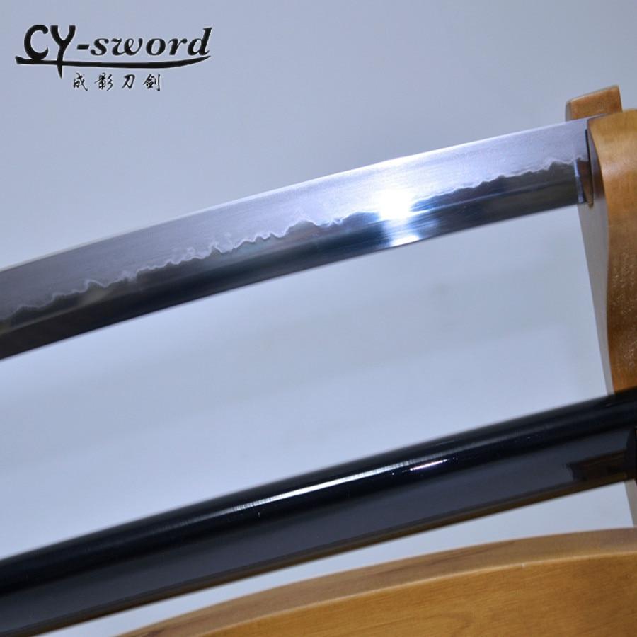Clay Tempered Japanese Katana High Quality Iron Tsuba True Combat Readiness