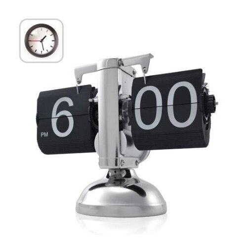 Noir Rétro Flip Horloge-Engrenage Interne Exploité Flip Maison Horloge USA Gratuite