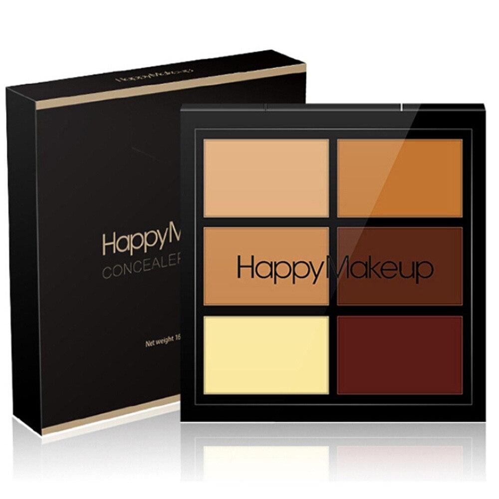Intelligente 6 Colori Viso Polvere Camouflage Crema Contorno Tavolozze Vestito Premuto Viso Make Up Correttore Crema Paleta De Contornos Maquillaje