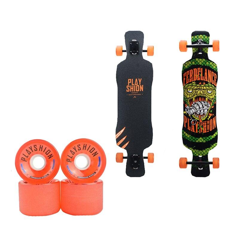Haute Élastique Quatre-Skate Conseil Roue Descente Professionnel Longue Plaque 70*51 MM Plat-Plaque Planche À Roulettes Longboard