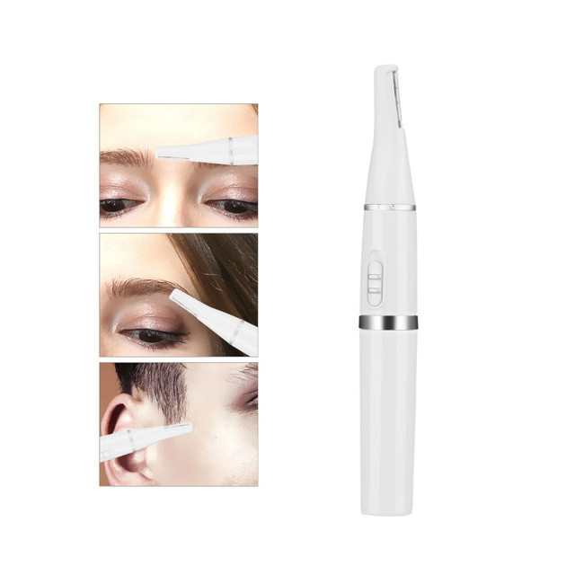 2 in 1 Portable Nose Eyebrow Hair Trimmer Mini Battery Operated Nose Ear Hair Removal No Pain Unisex Face Care Shaving Razor 31 2