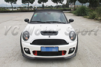 Car Accessories Portion Carbon Fiber John Cooper Works Style Front Bumper with Lip Fit For 2006-2013 R55-R58 Front Bumper