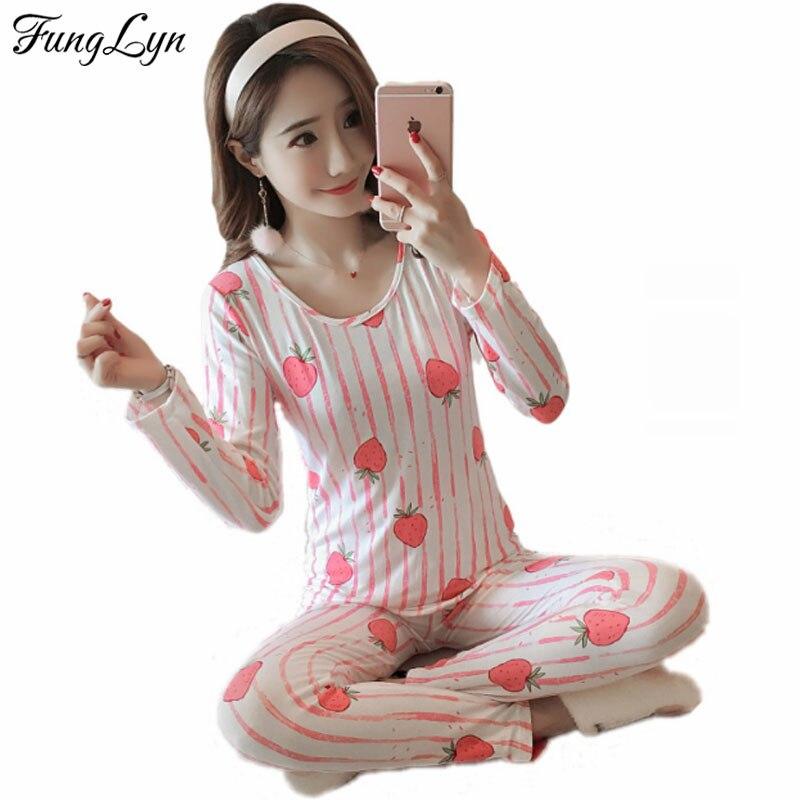 FL100C Cute Print Gril Cotton Pijama Mujer Primark Pigiama Donna Kigurumi pajamas for Women Pyjama Femme Pajama Sets Sleepwear