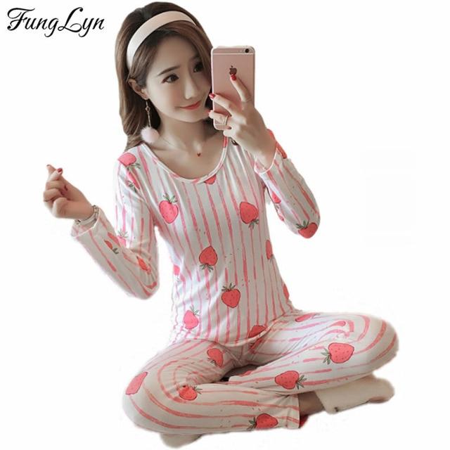 d147dfc33f71 FL100C Cute Print Gril Cotton Pijama Mujer Primark Pigiama Donna Kigurumi  pajamas for Women Pyjama Femme Pajama Sets Sleepwear