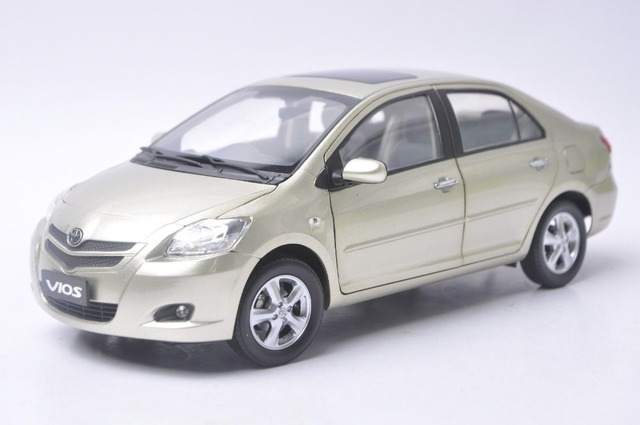 1 18 Diecast Model For Toyota Vios 2008 Gold Alloy Toy Car