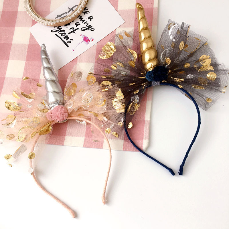 Korea High Quality Hand Made Unicorn Crow flowers Retro Hair Accessories Hair Bows Flower Crown Hairpin Headbands For girls hand made unicorn flower hairbands hair