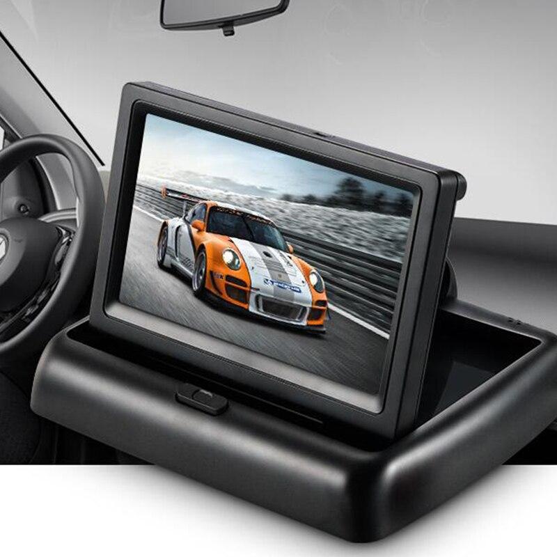 Zielsetzung [hfsecurity] Tragbare 4,3 Zoll 12 V Wiredf 480*272 Hd Auto Umkehr 7 Watt Digital Lcd Farbe Monitor Display Ntsc Pal