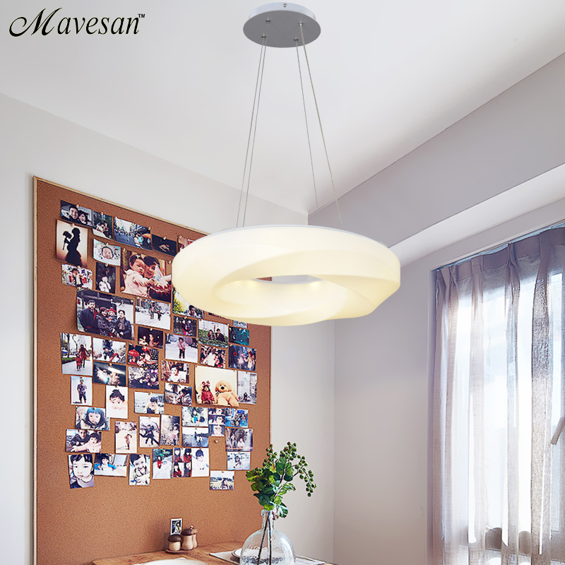 ФОТО Modern Led Pendant Lamps for dinning Room Acrylic round circle hanging lamp 85-265V led dining room kitchen pendant light