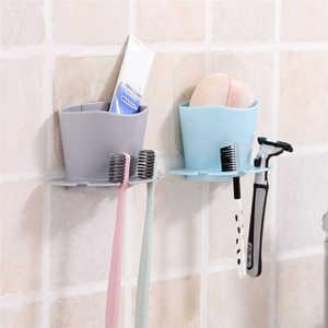 Image 2 - 高品質歯ブラシ収納ラックウォールマウントカップでシャワールームハンガーカップ歯磨き粉収納ラックホルダーウォールマウントカップ