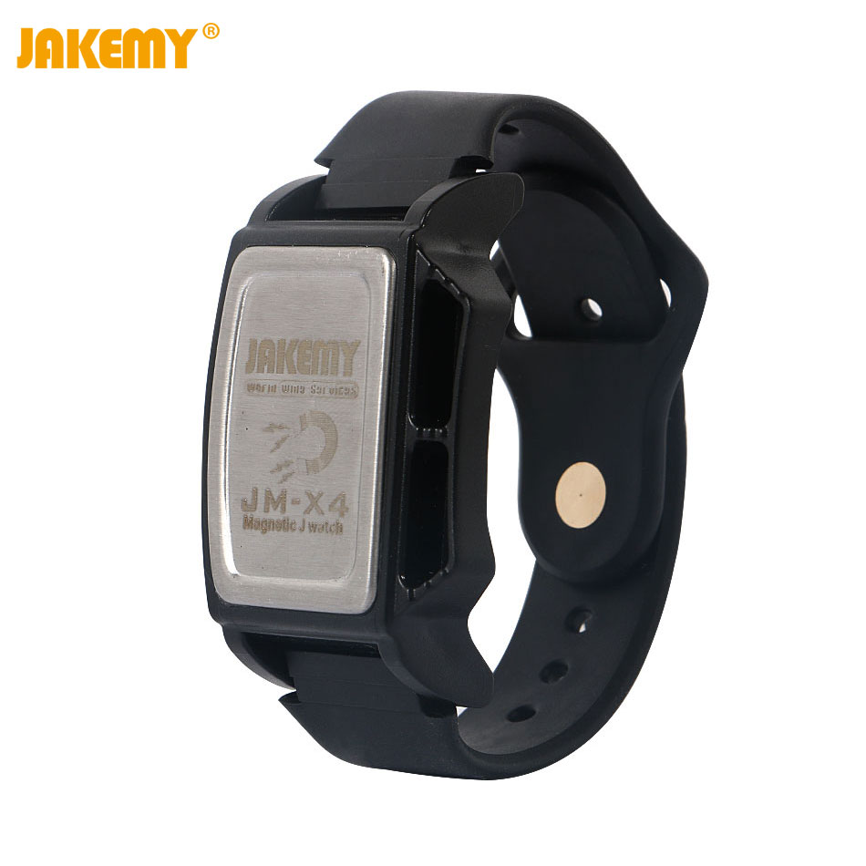 JAKEMY JM-X4 Components Adsorption Bracelet Powerful Magnetic Wrist Band Hold Small Metal Nuts Washers Screws Nails наша мама детский косметический крем 100 мл