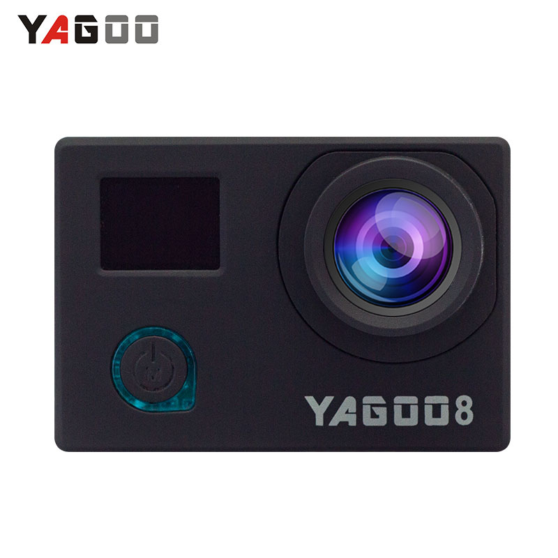 Yagoo8 Action camera 4K 24fps remote wifi  Full Ultra HD 1080P /30 fps  2.0 170D Sports  helmet Action underwater  mini Cam battery dual charger bag action camera eken h9 h9r 4k ultra hd sports cam 1080p 60fps 4 k 170d pro waterproof go remote camera