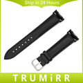 Genuine Leather Watch Band + Adapters for Samsung Gear S2 SM-R720 / R730 Wrist Strap Stainless Steel Buckle Bracelet Black Brown