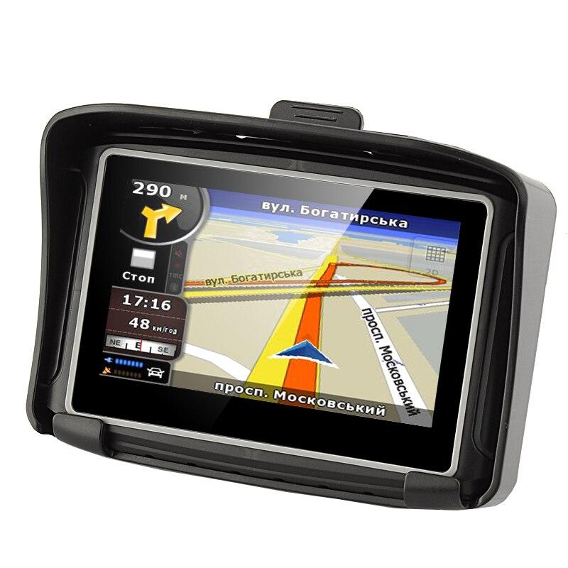 Moto GPS 4.3 pouces Étanche IPX7 Voiture Moto GPS Navigator avec FM Bluetooth Émetteur 8G Mémoire Interne et Livraison cartes