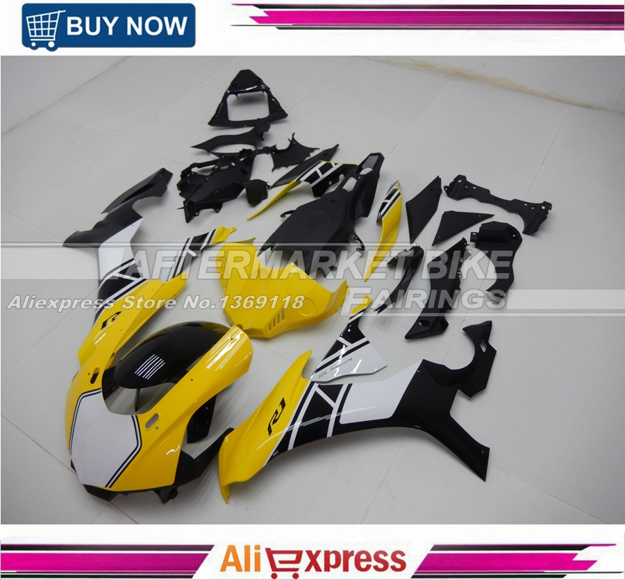 Detail Feedback Questions About Yellow And White Abs Fairing Sets For Yamaha 50th Anniversary Decals Yzf R1 2017 2016 Bodywork Kits On Aliexpress