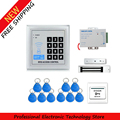 Full RFID Door Access Control System Kit Set Electric Magnetic Lock Armature Faceplate Access Control Power Supply 10 Key Fobs