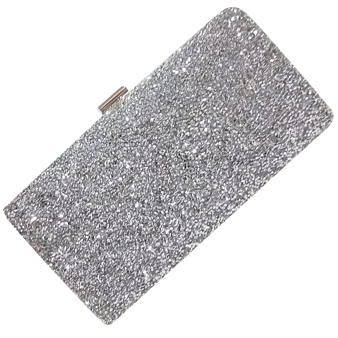 FGGS-Woman Evening bag Women Diamond created Rhinestone Clutch Crystal Day Clutch Wallet Wedding Purse Party Banquet, Silver fashion vintage elegant black banquet wallet hard hasp woman evening bag casual cute multicolor business clutch purse for women
