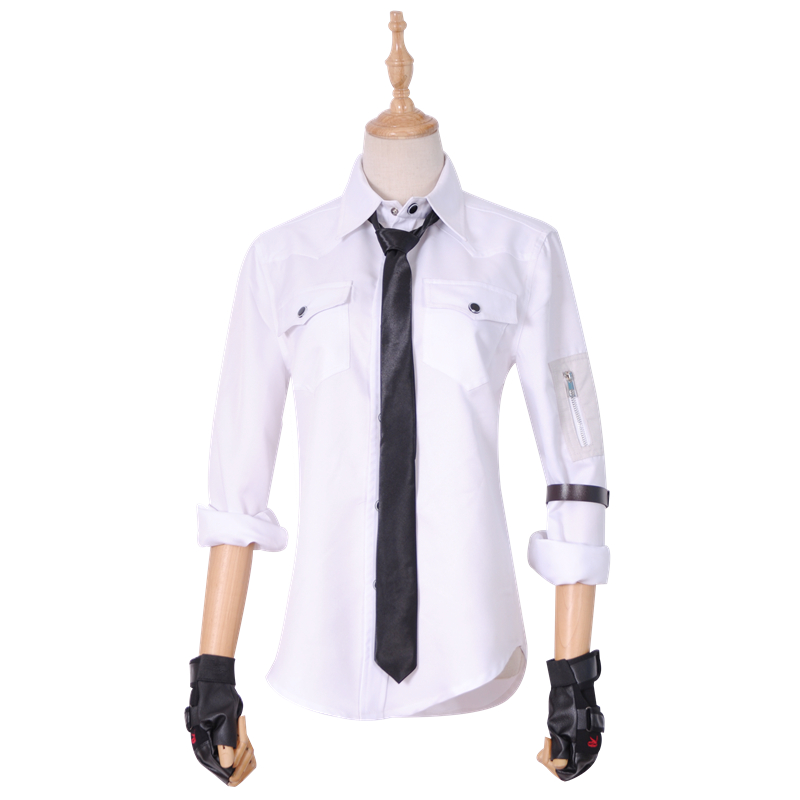 Hot FPS Game PUBG Men's Shirts Player Unknown's Battlegrounds Cosplay Costume Shirt+necktie+Arm Bandage For Men Women Adult