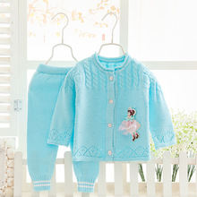 Single breasted Warm Cartoon adorable Baby Girls Clothes cotton Baby's Sets NE101-NE109