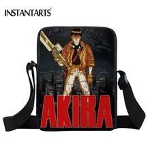 INSTANTARTS Japanese Anime AKIRA Shotaro Kaneda Messenger Bag Men Women Shoulder Bag Brand Designer Female Mini Crossbody Bags