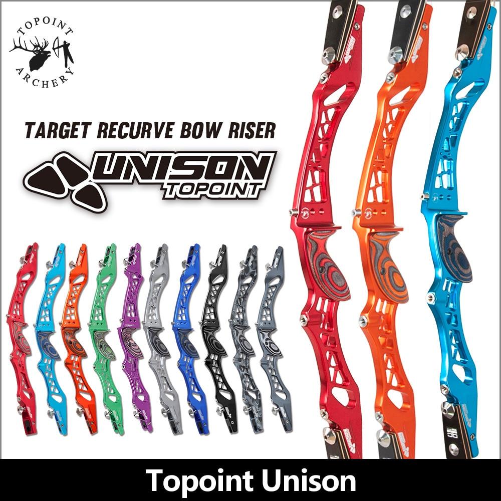 Topoint tir à l'arc de compétition à la descente arc classique uner, CNC arc Riser, aluminium Riser pour arc classique ILF arc Biser seulement