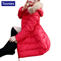 2017 New Arrival Children Down Coat for Girls Clothes Children Winter Hooded Down High Quality Girls Winter Warm Coat 3 Color