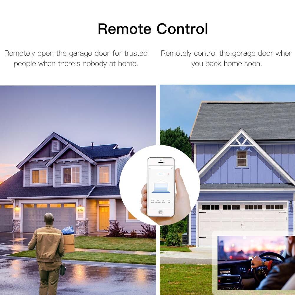 WiFi Smart Garage Door Controller Smart Life APP Remote Open Close Monitor Compatible With Alexa Echo Google Home No Hub Require