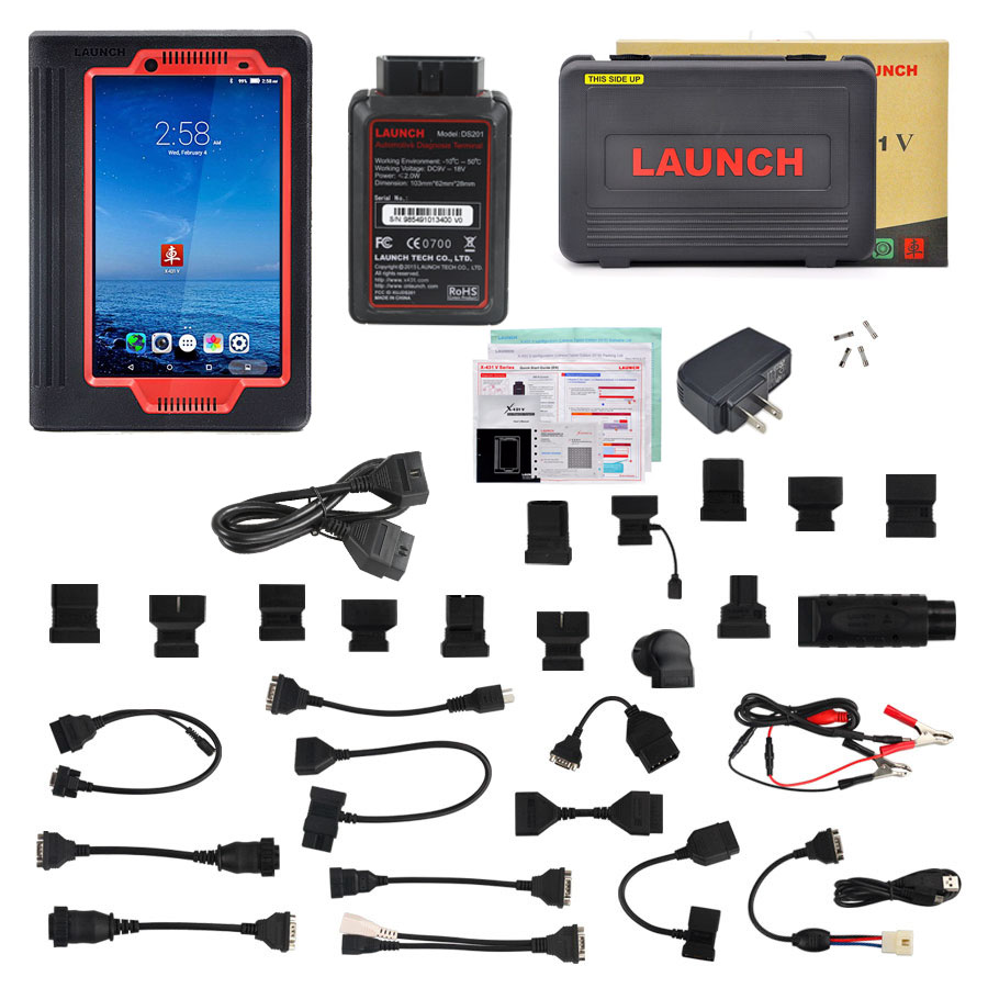 2017 Launch X431 V 8 inch Tablet PC Global Version Wifi/Bluetooth Full System Car Diagnostic Tool Two Years Free Update Online