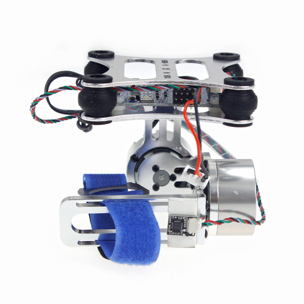 Aluminum 2-Axle Brushless Gimbal Camera Mount Controller Plug&Play for DIY Drone Quadcopter Trex 500 550 Aircraft