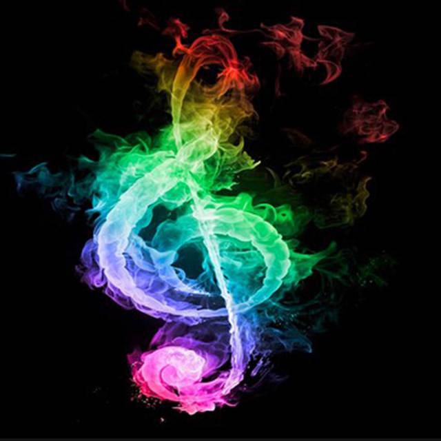 Online Shop 100 Diy 5d Elmas Mozaik Renkli Muzik Notasi Elmas