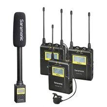 Saramonic UWMIC9 Uitzending Uhf Camera Draadloze Lavalier Microfoon System Zenders + Een Ontvanger Voor Dslr Camcorder