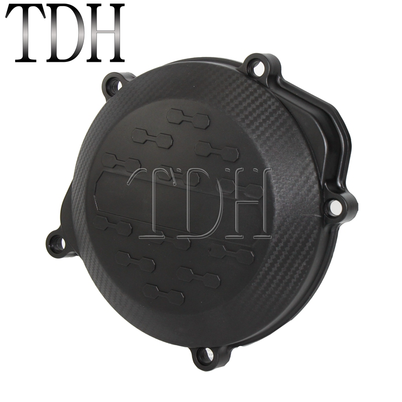 Motorcycle Black Plastic Clutch Cover Guard Engine Protector Kits For Honda CRF450R <font><b>CRF</b></font> <font><b>450R</b></font> 2009 2010 2012 2013 2014 2015 <font><b>2016</b></font> image