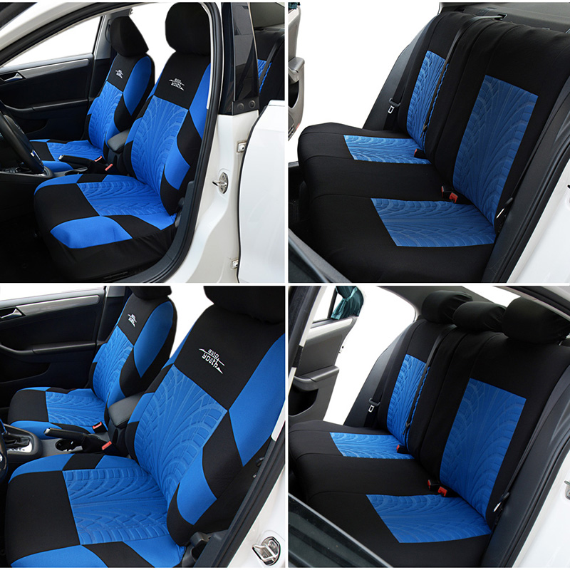 Image 5 - AUTOYOUTH 3 Colour Track Detail Style Car Seat Covers Set Polyester Fabric Universal Fits Most Cars Covers Car Seat Protector-in Automobiles Seat Covers from Automobiles & Motorcycles
