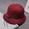 Mujeres plegable de algodón Inglaterra Joker sombrero del cubo sombreros de Verano sombrero para el sol visera