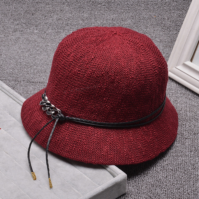 Women foldable cotton bucket hats Summer hat  Joker England sun visor hat