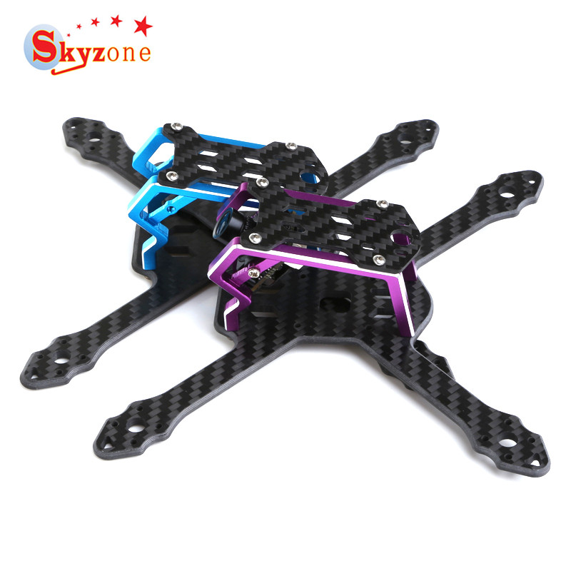Skyzone Micro 140 140mm FPV Racing RC Drone Frame Kit 3mm Arm Carbon Fiber Multi Rotor Parts for DIY RC Toys Models Accs totem q450 alien across carbon fiber rc quadrocopter diy fpv multi rotor drone kkmulticopter v2 3 with rx