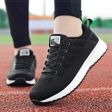 Женская обувь; коллекция года; белые кроссовки для женщин; дышащая Вулканизированная обувь для прогулок; Спортивная повседневная обувь на плоской подошве; tenis feminino
