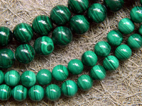 Free Shipping Natural 8mm Malachite Beads Bracelet Stone Min Order Is 1 5