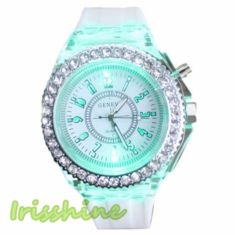 Irisshine C0412 Fashion Personality Luminous Silicone Watch Unisex Watches Male Female Relogio Masculino Love Christmas Gift