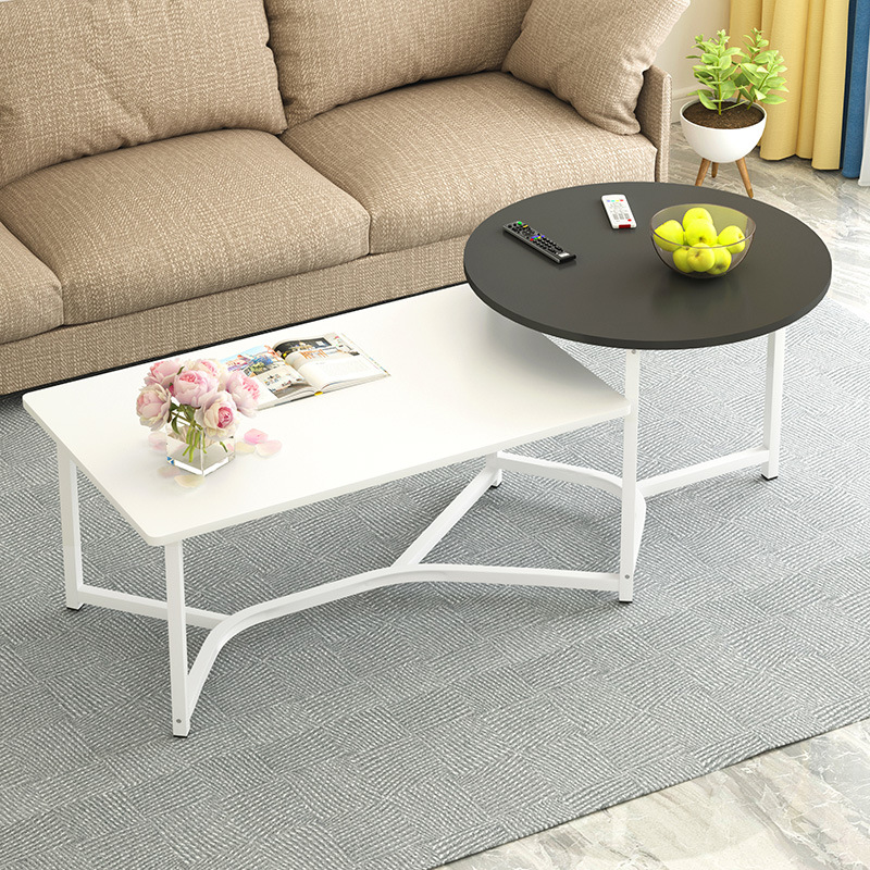 Marvelous 2 In 1 Living Room Coffee Tables Wodden Double Layer Simple Machost Co Dining Chair Design Ideas Machostcouk