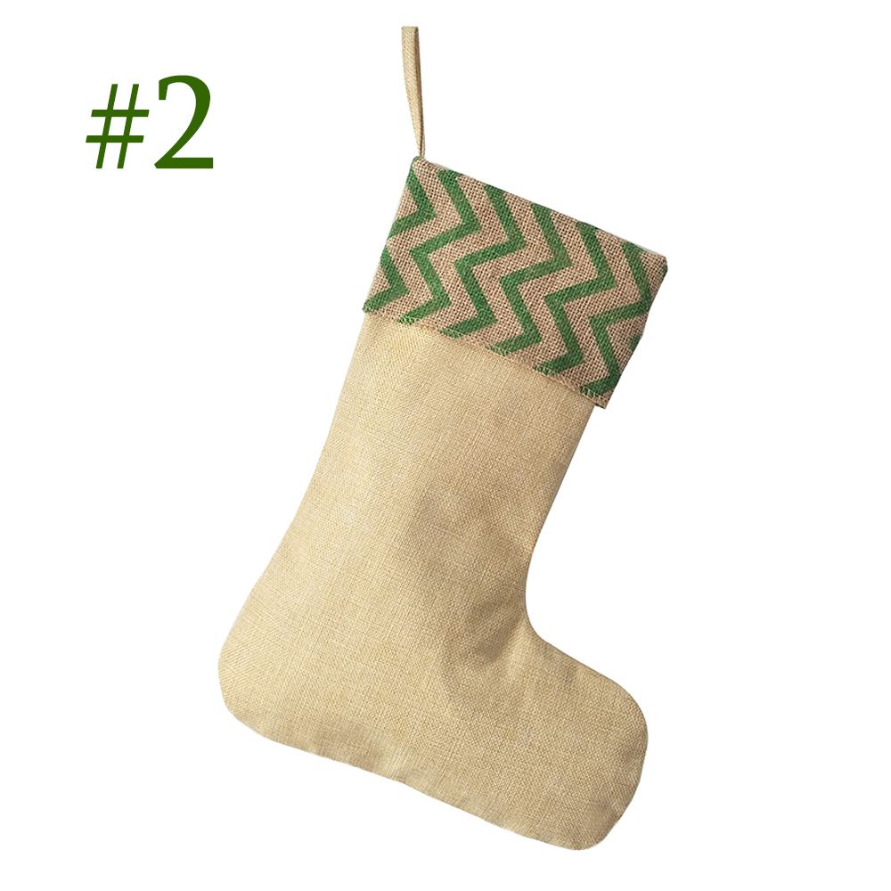 wholesale 100pcslot burlap christmas stocking redgreen striped christmas stocking snowflakespearls burlap christmas decor in stockings gift holders - Burlap Christmas Decorations Wholesale