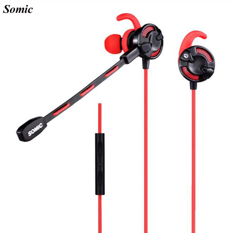 Somic G618 Wireless Bluetooth In-ear Earphone Vadio Gaming Stereo Sports Earphones Live Headset with Double Mics