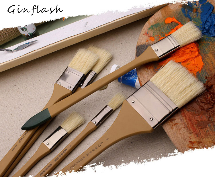 Paint Brush BS - 002 Bristle Pig Hair Head Oil Painting Propylene Acrylic Painting Brush Special Made Art Brush AHB015